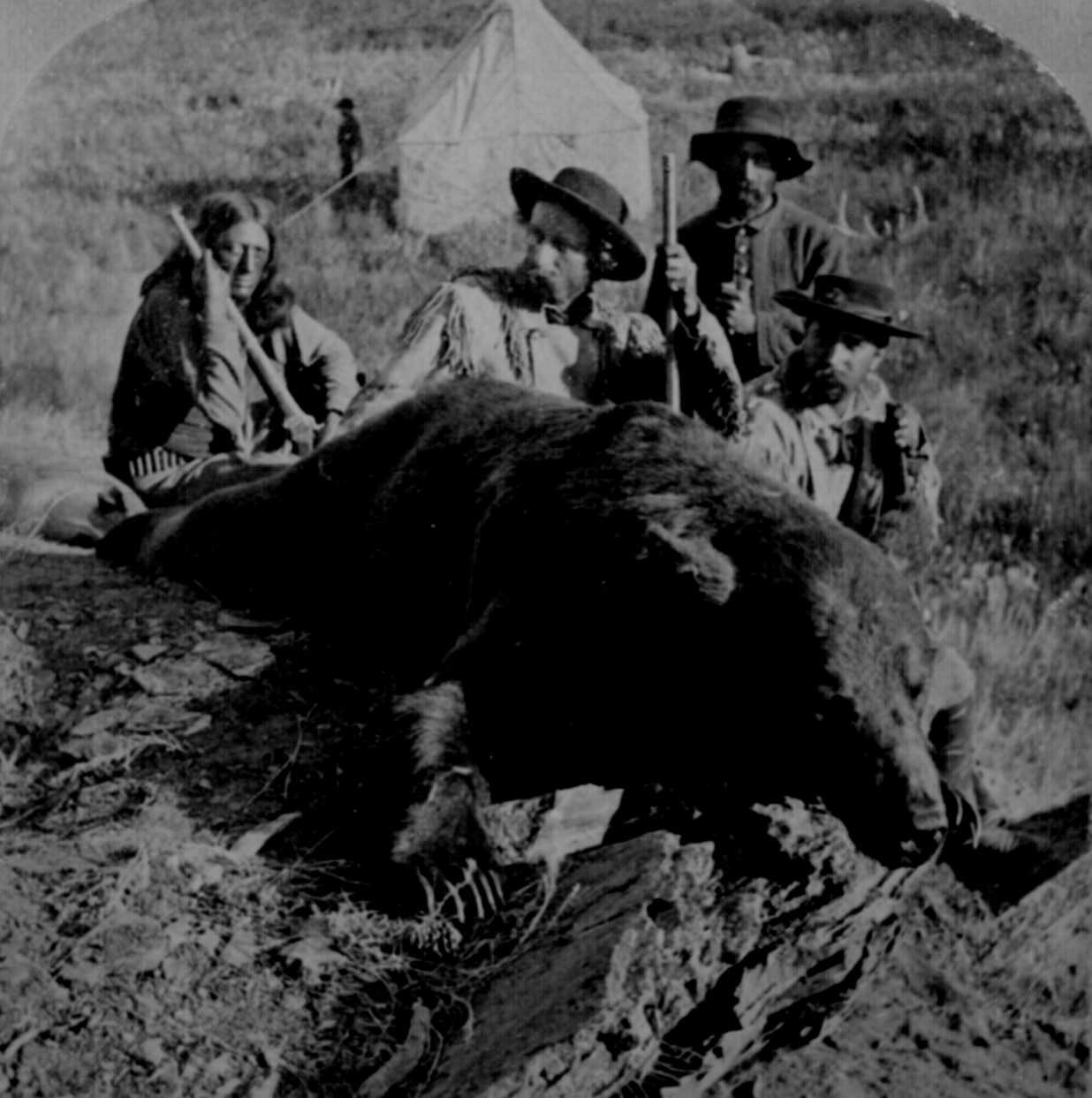 G Cave Ludlow   Our First Grizzly  killed by