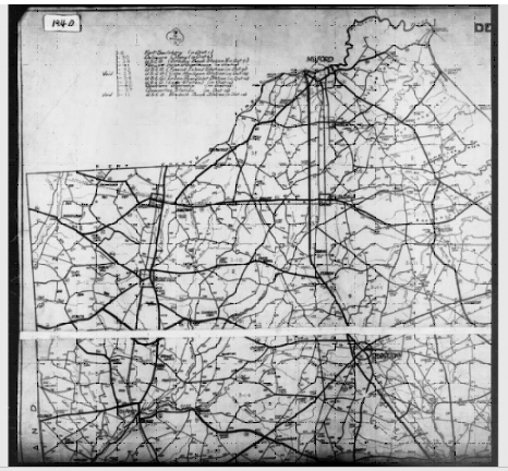 Start Your Census Research National Archives - Map from 1940 us