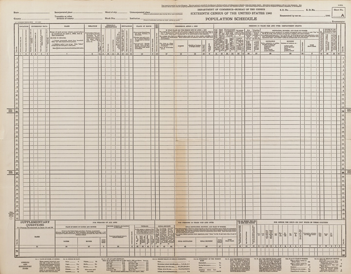 1940 Census, General Information | National Archives