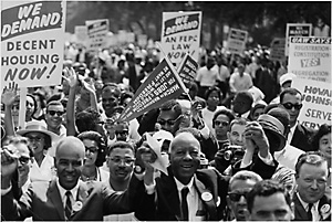 Marchers in Washington, D.C. 1963