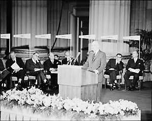 Eisenhower speaking