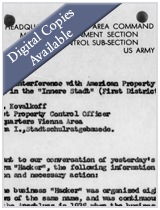 M1928- German External Assets Branch of the U.S. Allied Commission for Austria (USACA) Section