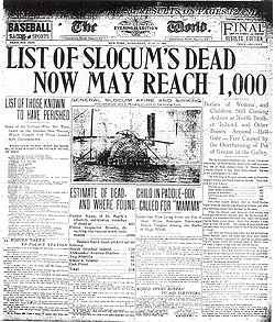 Newspaper headlines on June 15, 1904