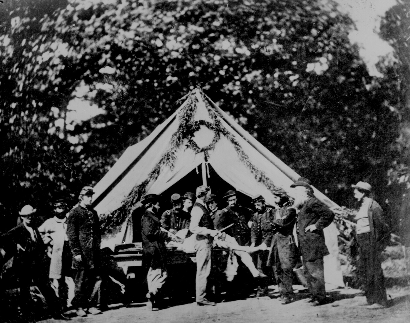 Amputation Being Performed In A Hospital Tent Gettysburg July 1863
