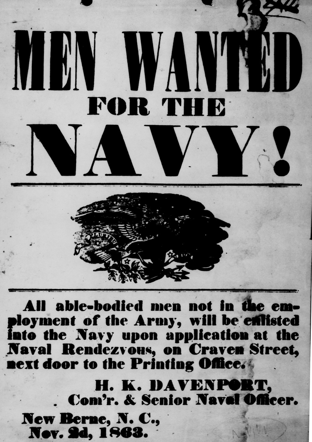 Civil war photos national archives men wanted for the navy thecheapjerseys Choice Image