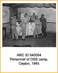 National Archives Identifier 540054 Personnel of OSS camp, Ceylon, 1945
