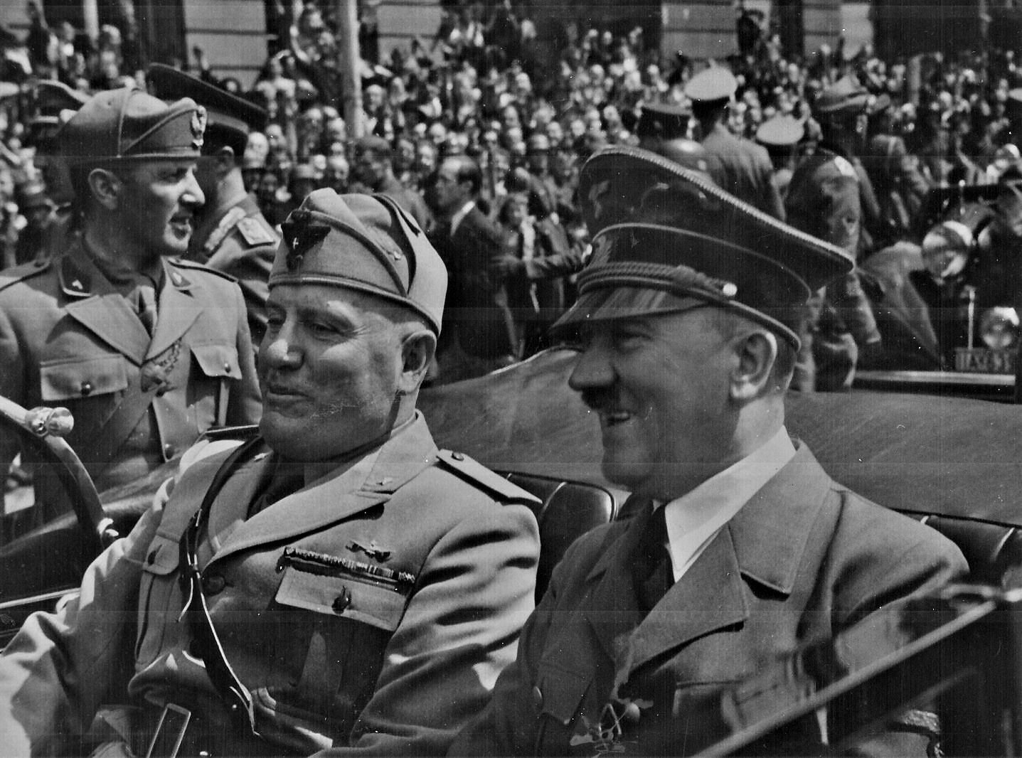 Adolf Hitler And Benito Mussolini In Munich Germany Ca June