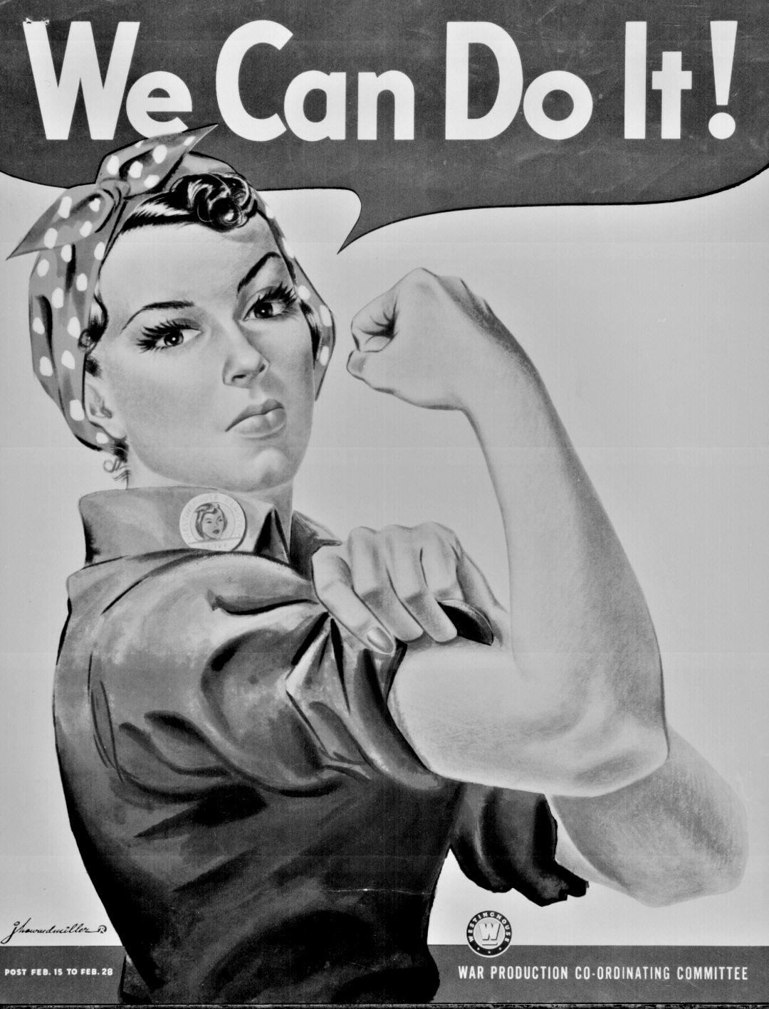 We Can Do It Color Poster By J Howard Miller
