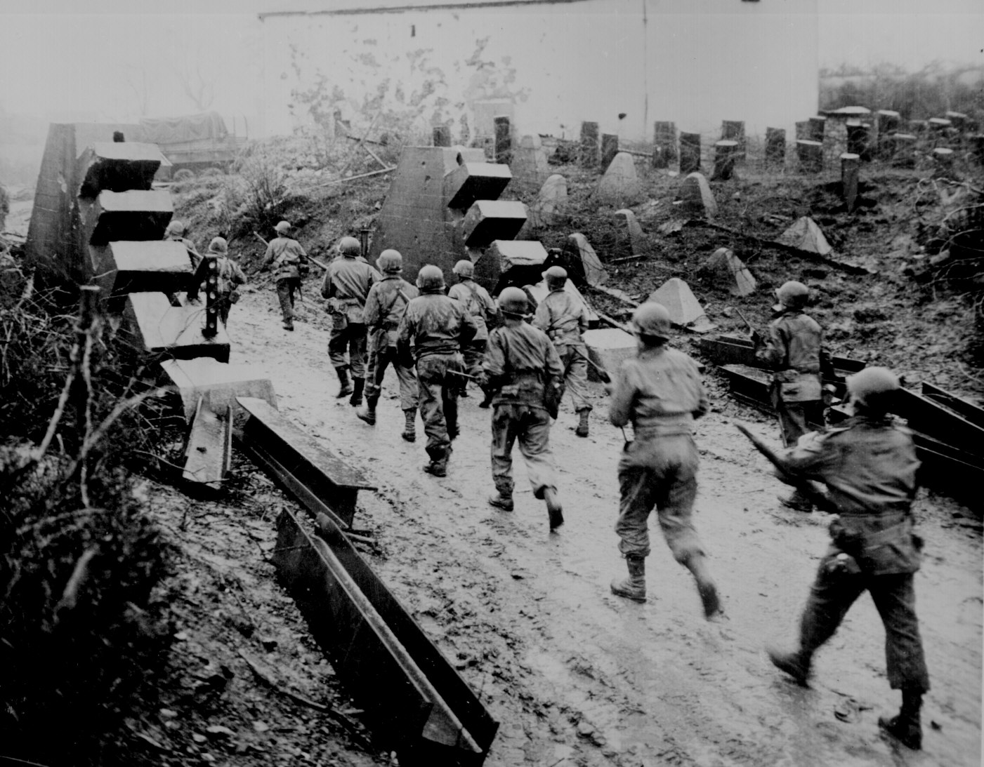 picture of US troops marching into Germany This picture is from the