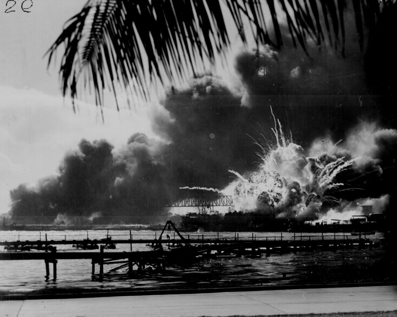 Japanese Attack Pearl Harbor Heavy Loss Of Life Us Fleet Steams  Photo Courtesy Of The Us Navy