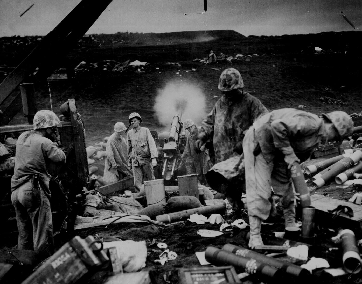 la bataille d'Iwo jima Ww2-154