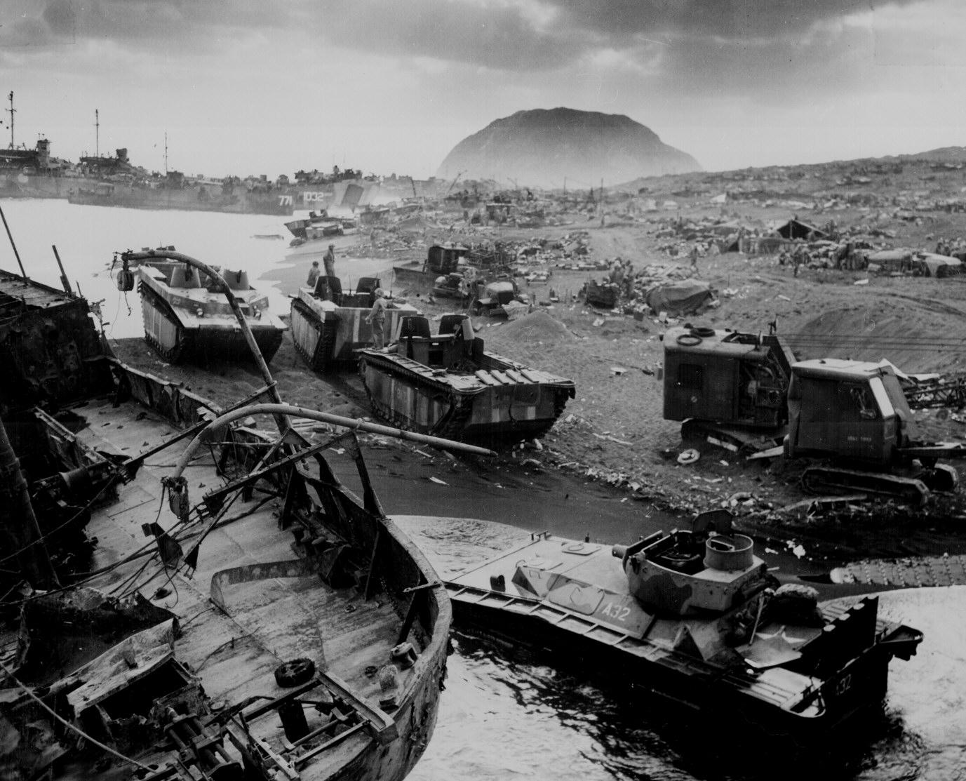 la bataille d'Iwo jima Ww2-155