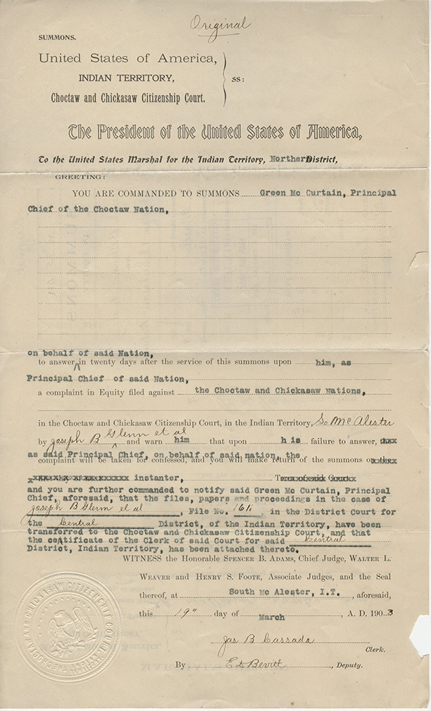 Dawes Records: 1896 Applications | National Archives