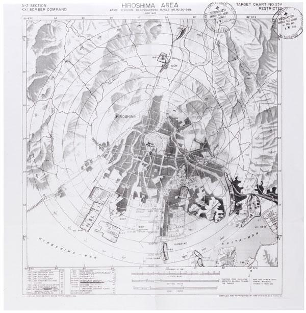Hiroshima Target Map National Archives