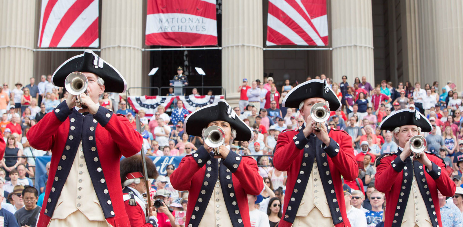 July 4 Old Guard buglers