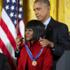 Cicely Tyson receives the Presidential Medal of Freedom from President Barack Obama