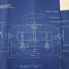 This blueprint for a curling stone submitted with Patent 3188088 by Frank T. Gatke in 1965. (Record Group 241: United States Patent and Trademark Office, Patent Case files, 1836-1976. National Archives at Kansas City.)