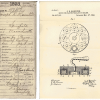 "A cover sheet or ""jacket"" for Patent 517103 tracks the documents from start to finish for the ""curling stone"" as submitted by Joseph B. Hamilton in 1893. (Record Group 241: United States Patent and Trademark Office, Patent Case files, 1836-1976. National"