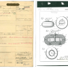 "A cover sheet or ""jacket"" for Patent 3188088 tracks the documents from start to finish for the ""curling stone"" by Frank T. Gatke in 1965. (Record Group 241: United States Patent and Trademark Office, Patent Case files, 1836-1976. National Archives at Kans"