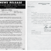 These Congressional press release from then-House Minority Leader, Gerald Ford, called for an investigation into UFO sightings in 1966. ( Box D9, folder Ford Press Releases-UFO 1966 of the Ford Congressional Papers: Press Secretary and Speech File at the