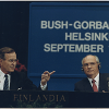 President Bush with Gorbachev, Helsinki