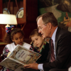 President Bush reads to children