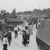 M-113 armored personnel carriers during Vietnamese evacuation of My Tho village during the Tet Offensive.