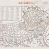 Map of Saigon Defense of the U.S. Embassy, 1/31/1968, the day after the Viet Cong bombed the Embassy during Tet January 30, 1968, a team of Vietcong blew a hole in the wall of the U.S. Embassy compound in Saigon. Part of the larger Tet Offensive, this bat