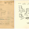 "A cover sheet or ""jacket"" for Patent 2312911 tracks the documents from start to finish for ""skating shoes and the like"" as submitted by Charles Jewtraw in 1941. (Record Group 241: United States Patent and Trademark Office, Patent Case files, 1836-1976. Na"