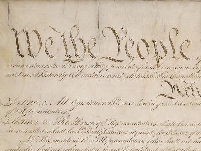 Page 1 of the US Constitution