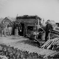 1. Log hut company kitchen, 1864.