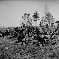 2. Soldiers at rest after drill, Petersburg, Va., 1864.