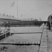 6. The 26th U.S. Colored Volunteer Infantry on parade, Camp William Penn, Pa., 1865.