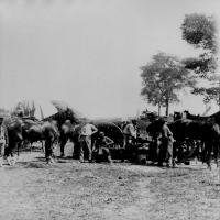 9. Army blacksmith and forge, Antietam, Md., September 1862.