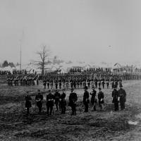10. Dismounted parade of the 7th New York Cavalry in camp, 1862.