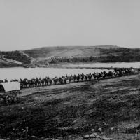 11. Federal cavalry column along the Rappahannock River, Va. 1862.