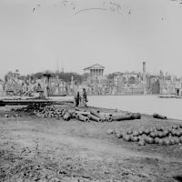 117. Ruins in front of the Capitol, 1865.