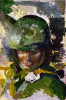 Combat art of trooper in Vietnam