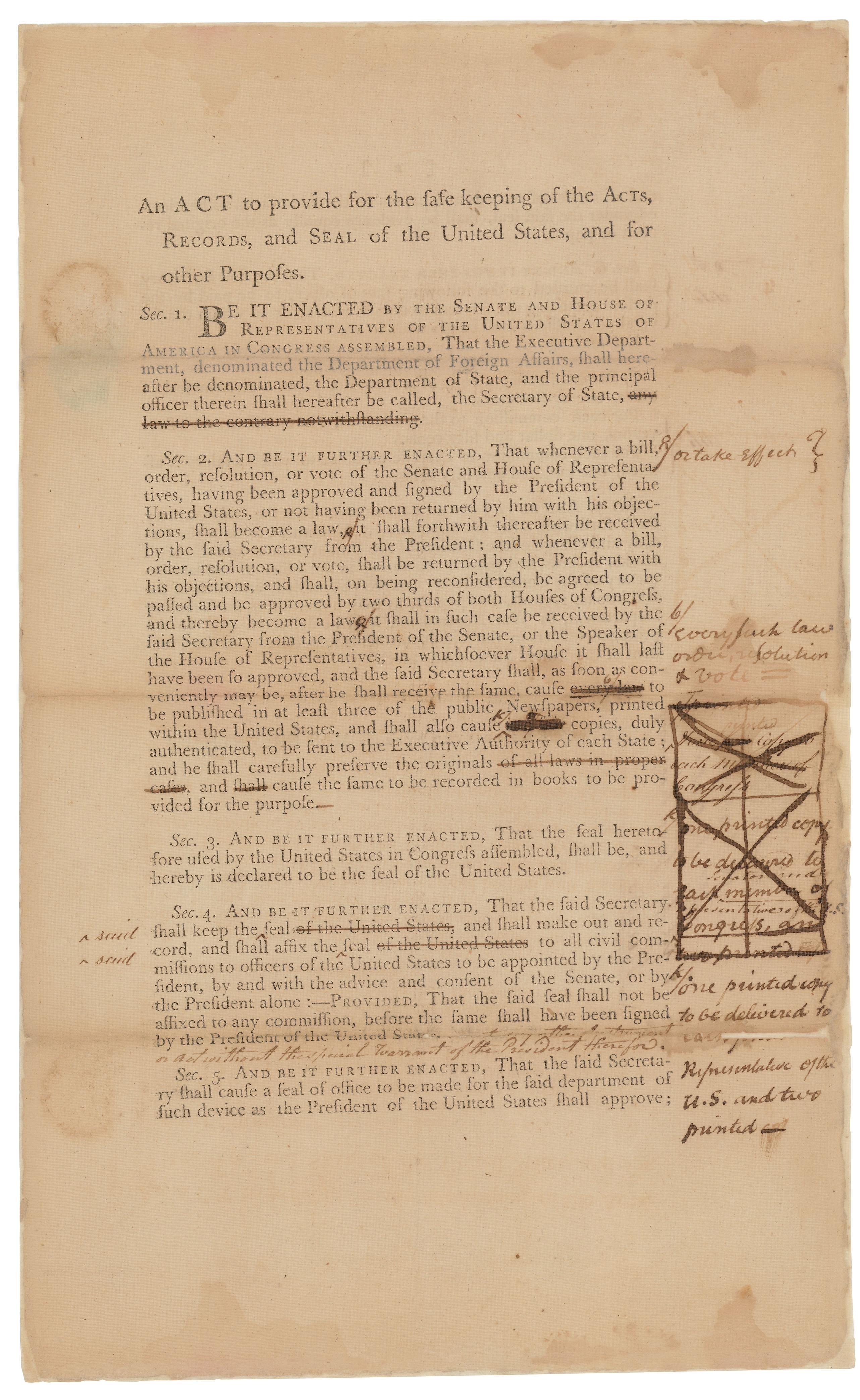 historical timeline national archives