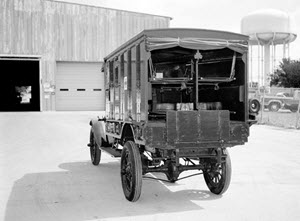 An Army medical field ambulance used during World War I