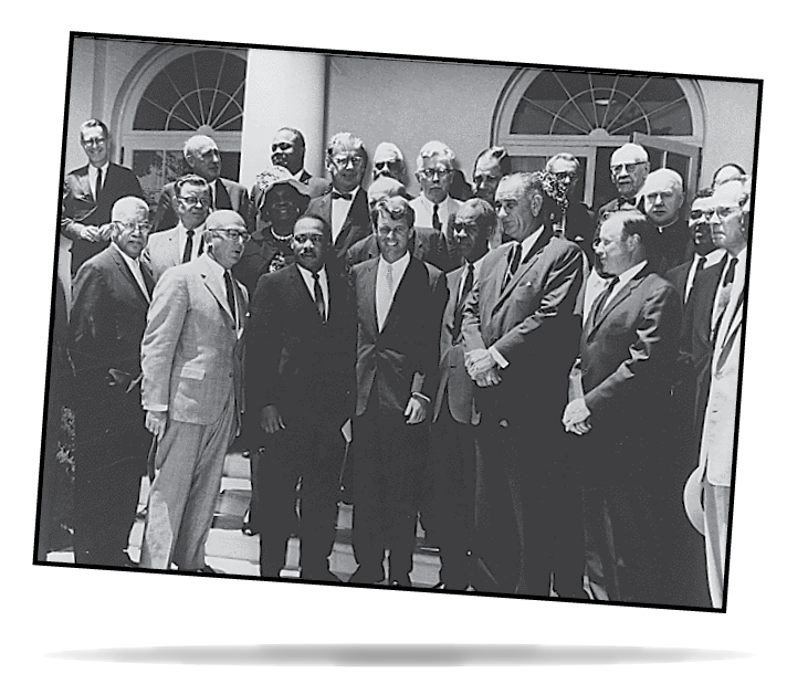 Photograph of White House Meeting with Civil Rights Leaders. June 22, 1963.