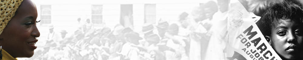 African American History month header graphic featuring a collection of images from the National Archives catalog