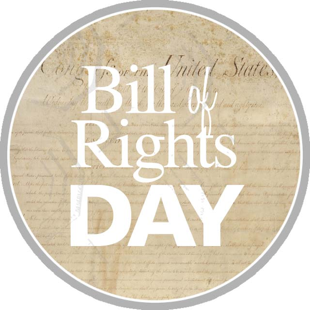 Celebrating the 225th Anniversary of the Bill of Rights icon portal graphic