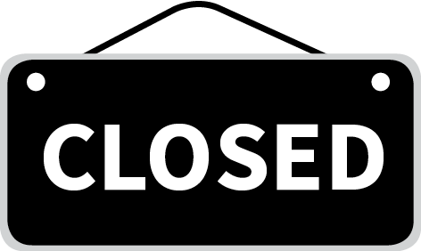 Closed sign graphic