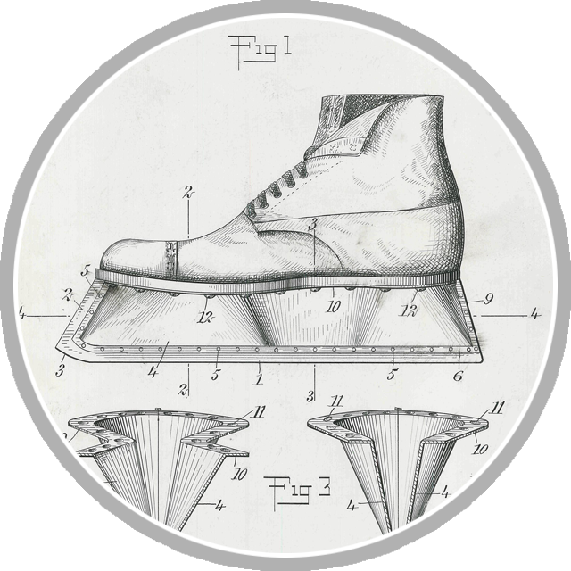 Hockey skate patent portal graphic