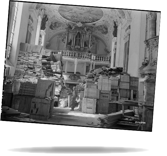 Troops find loot hidden in church German loot stored in church at Ellingen, Germany found by troops of the U.S. Third Army. 4/24/45.  RG 111-SC-204899