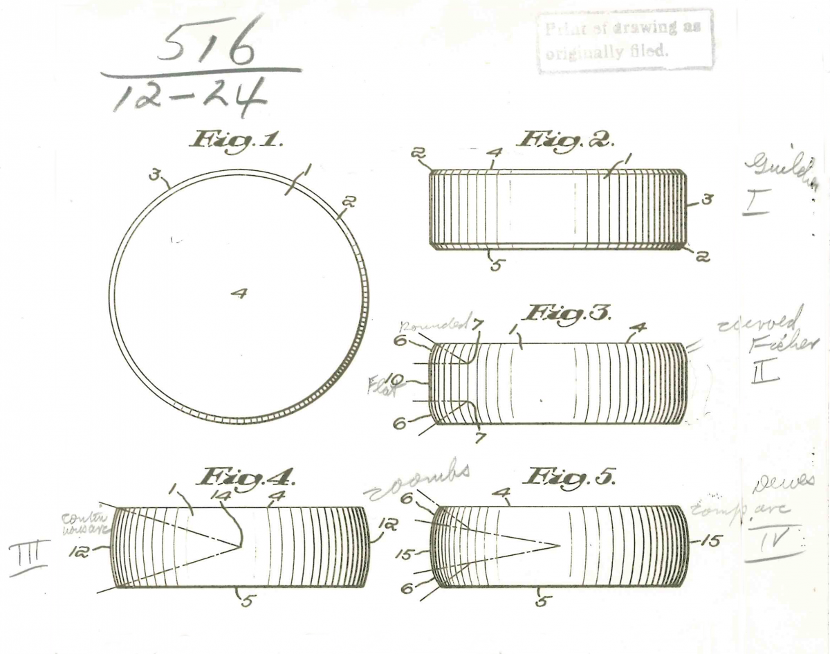 Patent drawing of a hockey puck