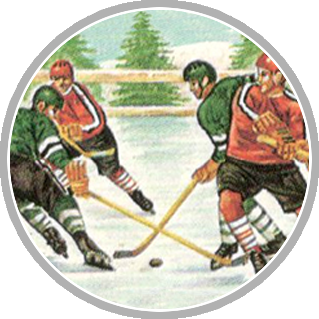 Hockey postage stamp
