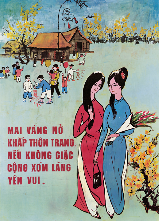 U.S. Psych Ops Poster for Tet (lunar New Year) holiday to promote U.S.-South Vietnamese Relations